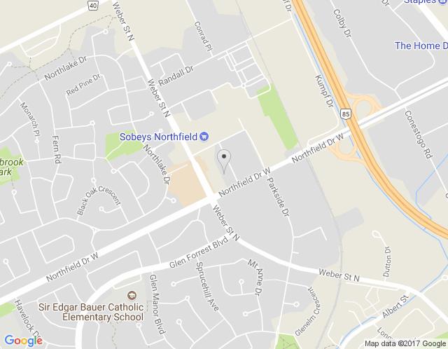 Map of Kitchener / Waterloo Region Showroom