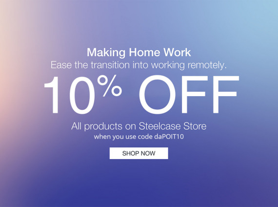 10% OFF STEELCASE STORE